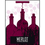 Merlot Wine Labels 30 ct