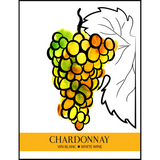 Chardonnay Wine Labels 30 ct