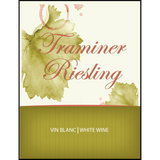 Traminer Riesling Wine Labels 30 ct