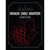 Grenache Shiraz Mourvedre Wine Labels 30 ct