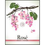 Rose Wine Labels 30 ct