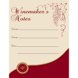Winemaker's Notes Wine Labels 30 ct