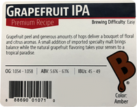 Grapefruit IPA Beer Kit