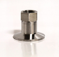 "Stainless Tri-Clamp Fitting w/ 1/2"" FPT"