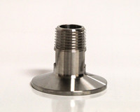 "Stainless Tri-clamp Fitting W/ 1/2"" MPT"