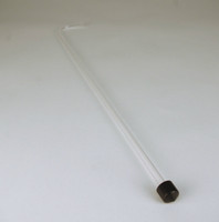 Racking Tube - Curved Clear 24 inch W/Tip (Single)