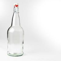 Clear Flip-Top Bottles 1L - 12/Case