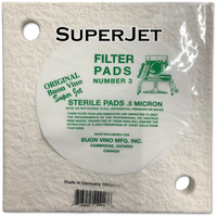 Buon Vino SuperJet Pad #3 Super Sterile 0.5 Micron (Pkg of 3)