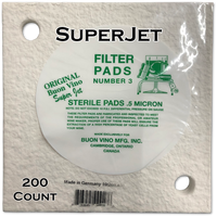 Buon Vino SuperJet Pad #3 Super Sterile 0.5 Micron (200 ct)