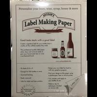 White Label-Making Paper 18 ct