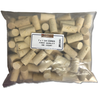 7 x 1 3/4 First Quality Straight Wine Corks 100 ct