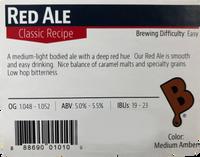 Red Ale Beer Kit