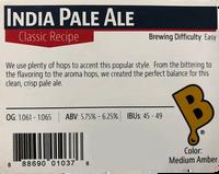 India Pale Ale Beer Kit