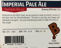Imperial Pale Ale Beer Kit