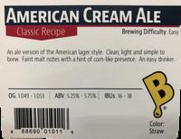American Cream Ale Beer Kit