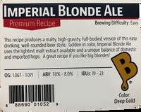 Imperial Blonde Ale Beer Kit