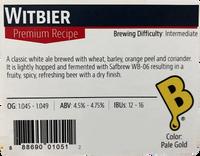 Witbier Beer Kit