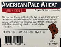 American Pale Wheat Ale Beer Kit