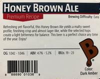 Honey Brown Ale Beer Kit