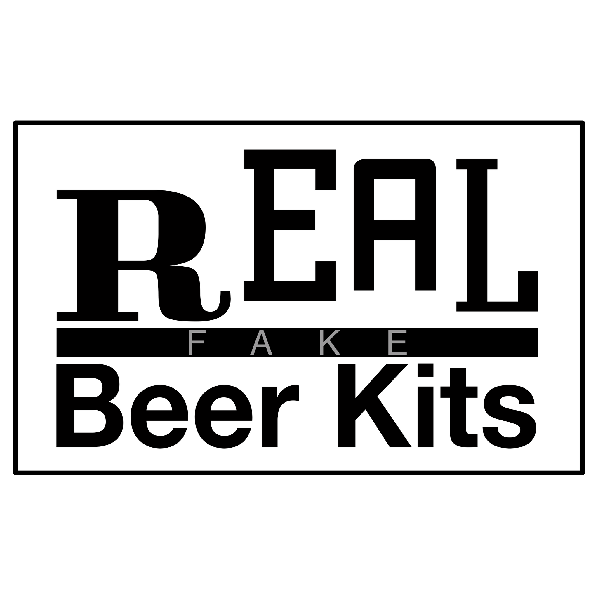 Real Fake Beer Kits Now Available!