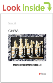 look inside chess puzzle practice packet grades 6-8