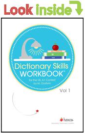 look inside dictionary skills workbook volume 1