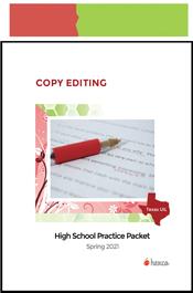 look inside high school copy editing practice packet spring 2021