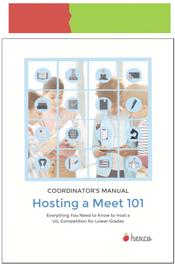 look inside hosting a meet 101 coordinators manual