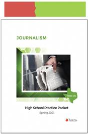 look inside journalism practice packet spring 2021