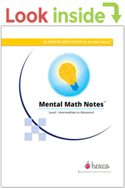 look inside mental math notes