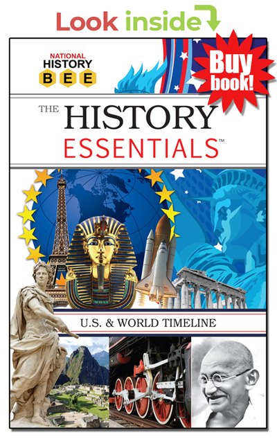 Look inside History Essentials national history bee study guide book