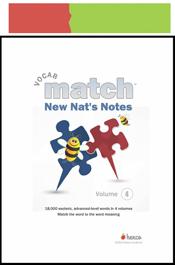 look inside new nats notes vocab match workbook
