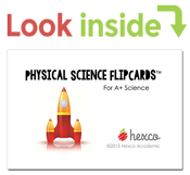 look inside physical science flipcards