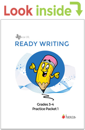 look inside ready writing practice packet grades 3-4