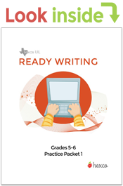 look inside ready writing practice packet grades 5-6