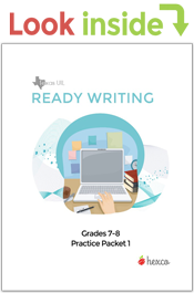 look inside ready writing practice packet grades 7-8