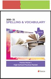 look inside spelling practice packet 1 2020-21