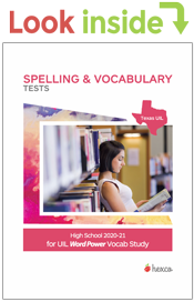 look inside spelling vocabulary tests 2020-21