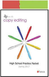 look inside uil journalism copy editing practice packet