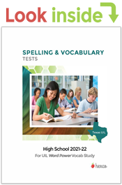 look inside uil spelling vocabulary tests