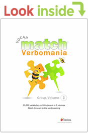 look inside verbomania vocab match workbook