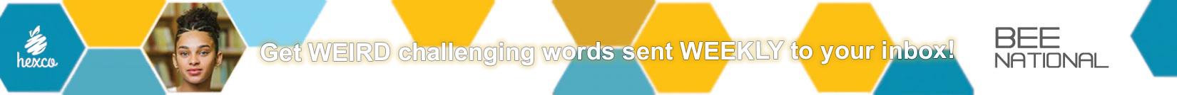 get weird challenging words sent weekly to your inbox