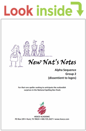 look inside new nat's notes alpha sequence
