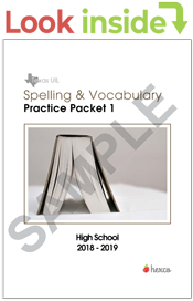 spelling vocabulary practice packets look inside