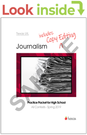 uil journalism practice packets look inside