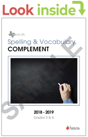 uil spelling vocabulary complement 5-6 look inside