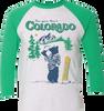 Colorado Baseball Tee- Green/Heather White