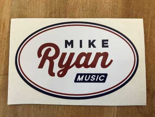 Mike Ryan Oval Sticker
