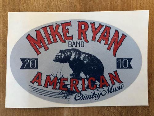 Mike Ryan Oval Bear Sticker