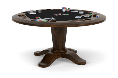48 round poker table top set